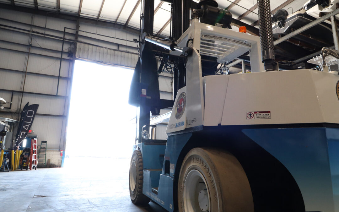 Off-Season Marina Lift Truck Service